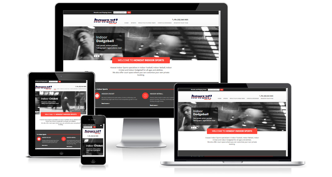 Howzat Indoor Sports website